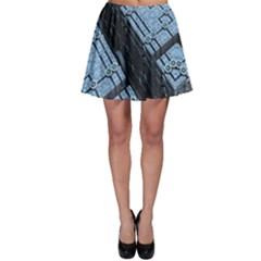 Grid Maths Geometry Design Pattern Skater Skirt