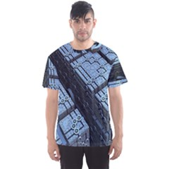 Grid Maths Geometry Design Pattern Men s Sport Mesh Tee