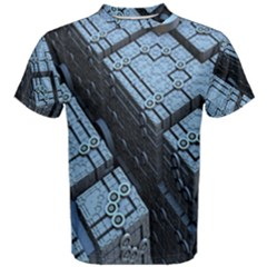 Grid Maths Geometry Design Pattern Men s Cotton Tee