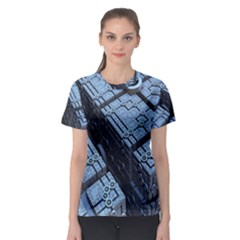 Grid Maths Geometry Design Pattern Women s Sport Mesh Tee