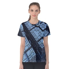 Grid Maths Geometry Design Pattern Women s Cotton Tee
