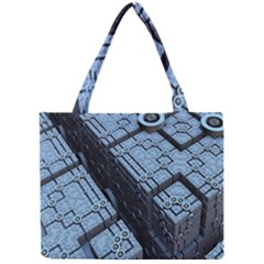 Grid Maths Geometry Design Pattern Mini Tote Bag