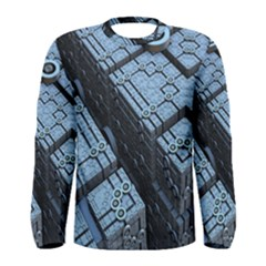 Grid Maths Geometry Design Pattern Men s Long Sleeve Tee