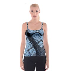 Grid Maths Geometry Design Pattern Spaghetti Strap Top