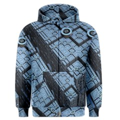 Grid Maths Geometry Design Pattern Men s Zipper Hoodie