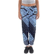 Grid Maths Geometry Design Pattern Women s Jogger Sweatpants