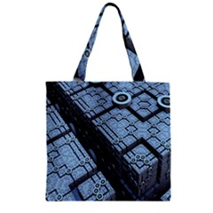 Grid Maths Geometry Design Pattern Zipper Grocery Tote Bag