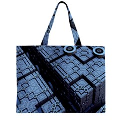 Grid Maths Geometry Design Pattern Zipper Mini Tote Bag
