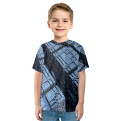 Grid Maths Geometry Design Pattern Kids  Sport Mesh Tee