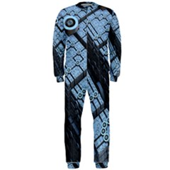 Grid Maths Geometry Design Pattern OnePiece Jumpsuit (Men)