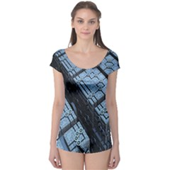 Grid Maths Geometry Design Pattern Boyleg Leotard