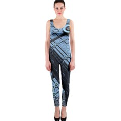 Grid Maths Geometry Design Pattern OnePiece Catsuit