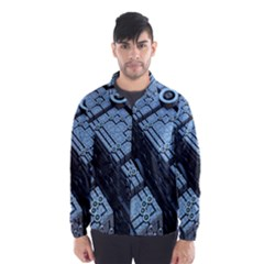 Grid Maths Geometry Design Pattern Wind Breaker (Men)