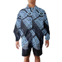 Grid Maths Geometry Design Pattern Wind Breaker (Kids)