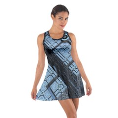Grid Maths Geometry Design Pattern Cotton Racerback Dress