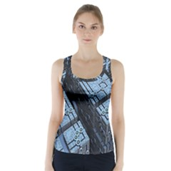Grid Maths Geometry Design Pattern Racer Back Sports Top