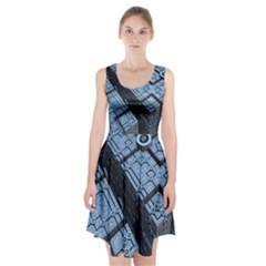 Grid Maths Geometry Design Pattern Racerback Midi Dress
