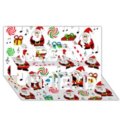 Xmas song Best Friends 3D Greeting Card (8x4)