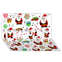 Xmas song BEST SIS 3D Greeting Card (8x4)
