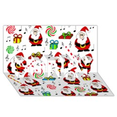 Xmas song SORRY 3D Greeting Card (8x4)