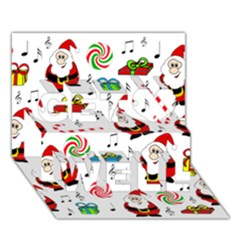 Xmas song Get Well 3D Greeting Card (7x5)