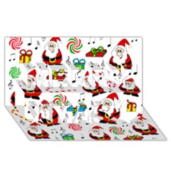 Xmas song Merry Xmas 3D Greeting Card (8x4)