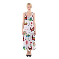 Xmas song Sleeveless Maxi Dress
