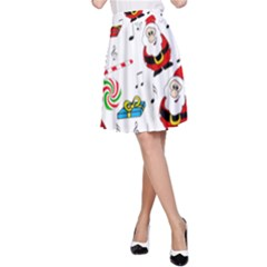 Xmas song A-Line Skirt