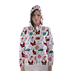 Xmas song Hooded Wind Breaker (Women)