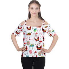 Xmas song Women s Cutout Shoulder Tee