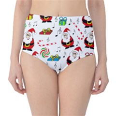 Xmas song High-Waist Bikini Bottoms