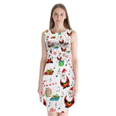 Xmas song Sleeveless Chiffon Dress