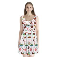 Xmas song Split Back Mini Dress