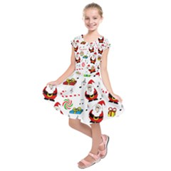 Xmas Song Kids  Short Sleeve Dress