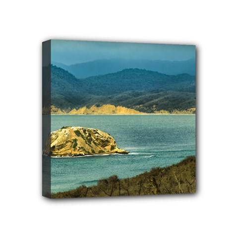 Mountains And Sea At Machalilla National Park Ecuador Mini Canvas 4  x 4