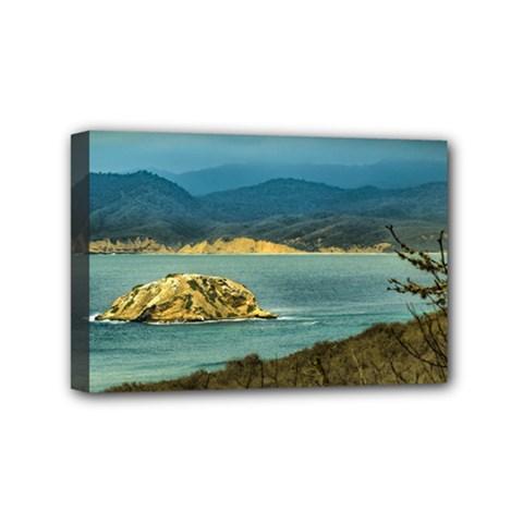 Mountains And Sea At Machalilla National Park Ecuador Mini Canvas 6  x 4