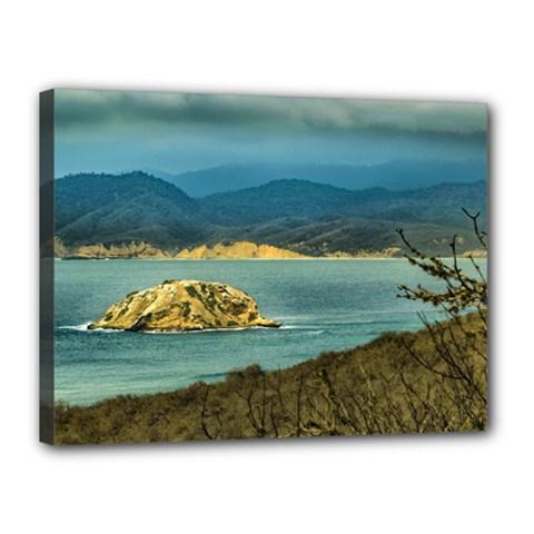 Mountains And Sea At Machalilla National Park Ecuador Canvas 16  x 12
