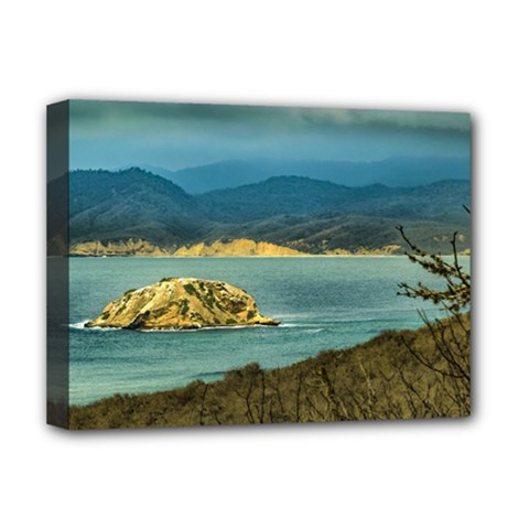 Mountains And Sea At Machalilla National Park Ecuador Deluxe Canvas 16  x 12
