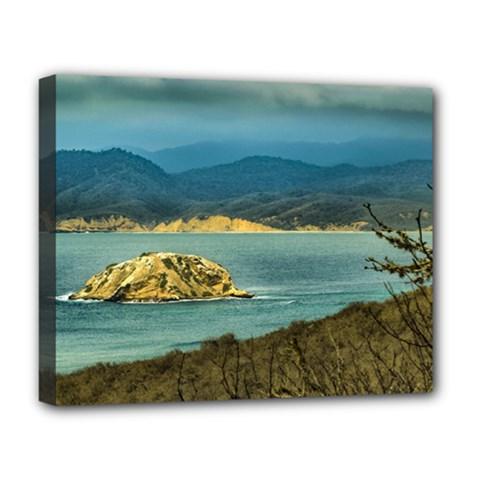 Mountains And Sea At Machalilla National Park Ecuador Deluxe Canvas 20  x 16