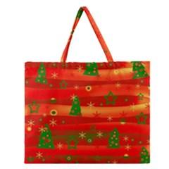 Christmas magic Zipper Large Tote Bag