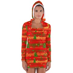 Christmas magic Women s Long Sleeve Hooded T-shirt