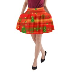 Christmas magic A-Line Pocket Skirt