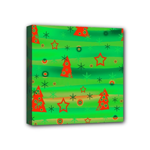 Xmas magical design Mini Canvas 4  x 4