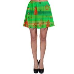 Xmas magical design Skater Skirt