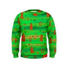 Xmas magical design Kids  Sweatshirt