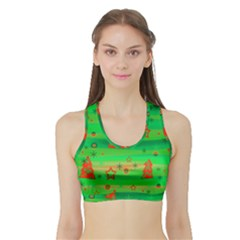 Xmas magical design Sports Bra with Border