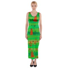 Xmas magical design Fitted Maxi Dress
