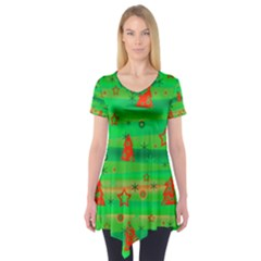 Xmas magical design Short Sleeve Tunic