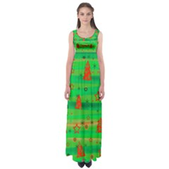 Xmas magical design Empire Waist Maxi Dress