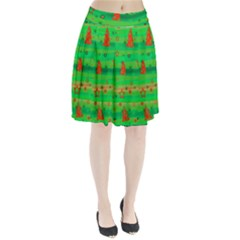 Xmas magical design Pleated Skirt
